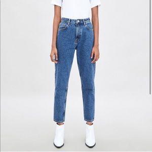 Zara straight leg mom jeans